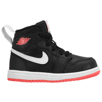 Jordan AJ 1 High - Girls' Toddler - Black / Red