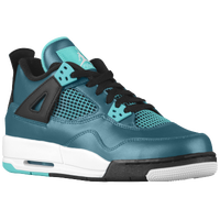 Jordan Retro 4 - Boys' Grade School - Dark Green / Black