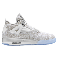 Jordan Retro 4 - Boys' Grade School - White / Grey