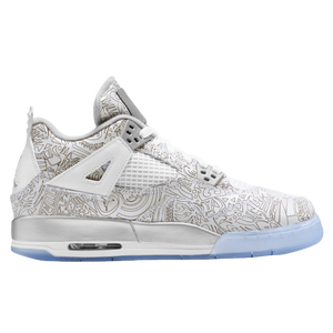 Jordan Retro 4 - Boys' Grade School - White/Chrome/Metallic Silver