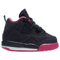 Jordan Retro 4 - Girls' Toddler - Black / Pink