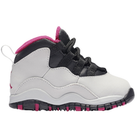 Jordan Retro 10 - Girls' Toddler - Grey / Pink