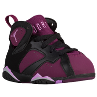 Jordan Retro 7 - Girls' Toddler - Black / Purple