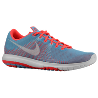 Nike Flex Fury - Girls' Grade School - Light Blue / Orange