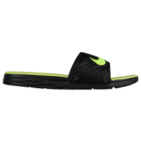 Nike Benassi Solarsoft Slide 2 - Men's - Black / Light Green