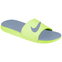 Nike Benassi Solarsoft Slide 2 - Men's - Light Green / Grey