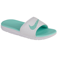 Nike Benassi Solarsoft Slide 2 - Women's - White / Light Green