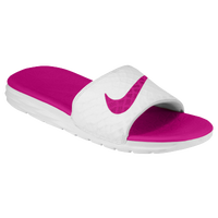 Nike Benassi Solarsoft Slide 2 - Women's - White / Pink