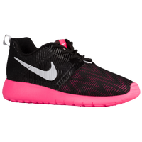 Nike Roshe Run Flight Weight - Girls' Grade School - Black / White