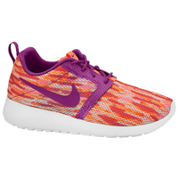 Nike Roshe Run Flight Weight - Girls' Grade School - White / Orange