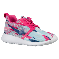 Nike Roshe One Flight Weight - Girls' Grade School - Light Blue / Pink