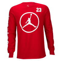Jordan Jumpman Long Sleeve T-Shirt - Men's - Red / White