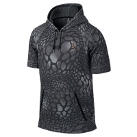 Jordan Black Cat Short Sleeve Hoodie - Men's - Grey / Black
