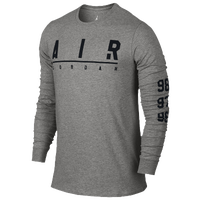 Jordan A.I.R. Jordan Long Sleeve T-Shirt - Men's - Grey / Black