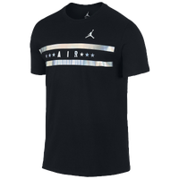 Jordan Now & Forever T-Shirt - Men's - Black / White