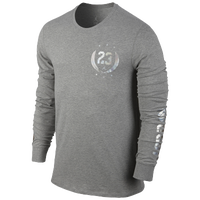 Jordan Fold'em Long Sleeve T-Shirt - Men's - Grey / Grey