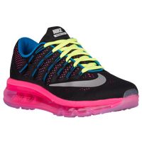 Nike Air Max 2016 - Girls' Grade School - Black / Silver