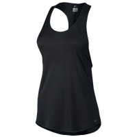 Nike Dri-FIT Crew Tank - Women's - All Black / Black