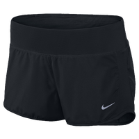 Nike Dri-FIT Crew Shorts - Women's - All Black / Black