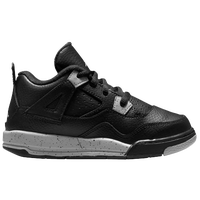 Jordan Retro 4 - Boys' Toddler - Black / Grey