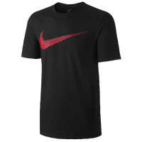 Nike Hangtag Swoosh S/S T-Shirt - Men's - Black / Red