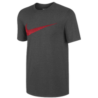 Nike Hangtag Swoosh S/S T-Shirt - Men's - Grey / Red