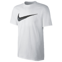 Nike Hangtag Swoosh S/S T-Shirt - Men's - White / Black
