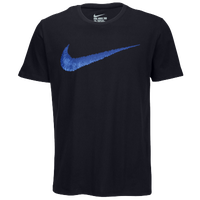 Nike Hangtag Swoosh S/S T-Shirt - Men's - Navy / Blue