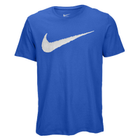 Nike Hangtag Swoosh S/S T-Shirt - Men's - Blue / White
