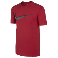 Nike Hangtag Swoosh S/S T-Shirt - Men's - Red / Grey