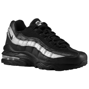 Nike Air Max 95  - Boys' Grade School - Black/Black/Silver