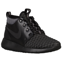 Nike Roshe One Mid - Boys' Grade School - Black / Grey