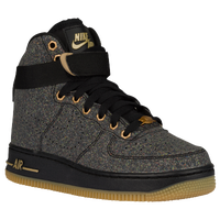 Nike Air Force 1 High - Boys' Grade School - Black / Grey