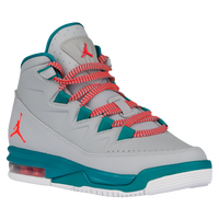 Jordan Air Deluxe - Girls' Grade School - Grey / Red