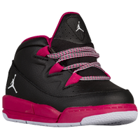 Jordan Deluxe - Girls' Toddler - Black / White