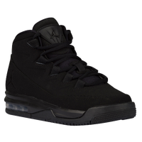 Jordan Air Deluxe - Boys' Grade School - All Black / Black