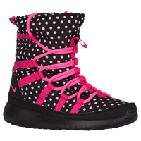 Nike Roshe One Hi Sneakerboot - Girls' Grade School - Black / Pink