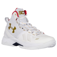 Under Armour Curry 2 - Boys' Grade School - White / Gold