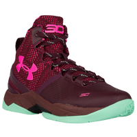 Under Armour Curry 2 - Boys' Grade School - Maroon / Pink