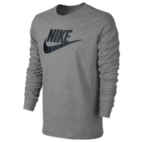 Nike Futura Icon Long Sleeve T-Shirt - Men's - Grey / Black
