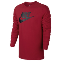 Nike Futura Icon Long Sleeve T-Shirt - Men's - Red / Black