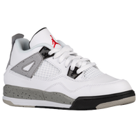 Jordan Retro 4 - Boys' Preschool - White / Red