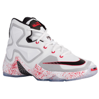 Nike LeBron XIII - Boys' Grade School - White / Black