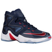 Nike LeBron XIII - Boys' Grade School - Navy / Red