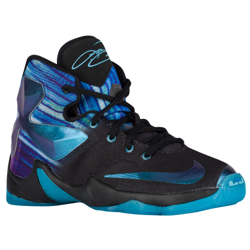 online store e9252 da12e nike lebron black and light blue shoes Find The Best Deals On 2015 Nike  Hyperdunks ...
