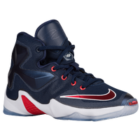 Nike LeBron XIII - Boys' Preschool -  LeBron James - Navy / Red