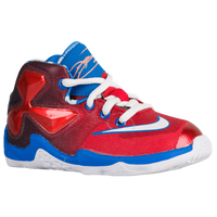 Nike LeBron XIII - Boys' Toddler -  Lebron James - Red / Light Blue