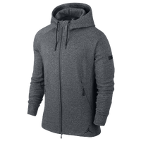 Jordan Icon Fleece Full Zip Hoodie - Men's - Black / White