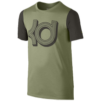 Nike KD Logo S/S T-Shirt - Boys' Grade School -  Kevin Durant - Olive Green / Black