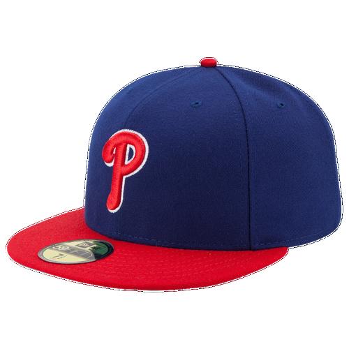 New Era MLB 59Fifty Authentic Cap - Men's - Philadelphia Phillies - Blue / Red